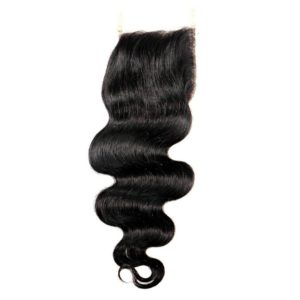 Brazilian Body Wave Closure natural color seen from the front