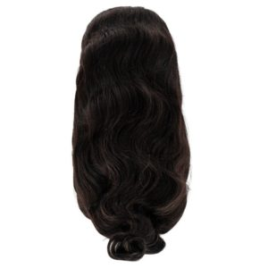 body wave full lace wig seen from the back