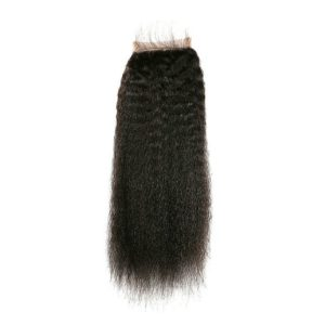 Kinky straight closure seen from the back 1B Natural Color