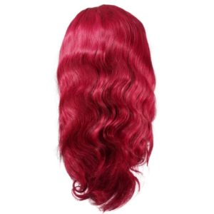 Cha Cha Burgundy Front lace wig seen from the back