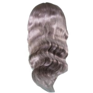 Silver Lightning Front lace wig seen from the back