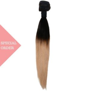 Honey Blonde Ombre Straight extensions one bundle color #27