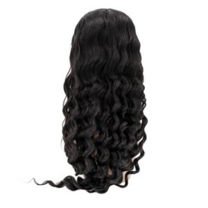 Loose wave front lace wig seen from the back