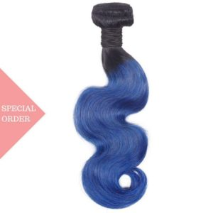 Blue-ombre-BW body wave black and blue special order