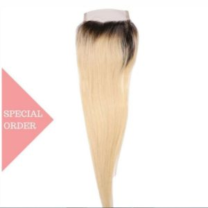 Blonde Ombre Straight Closure style Russian Blonde Ombre Straight Closure