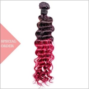 Cranraspberry ombre deep wave color #135 Raspberry Red