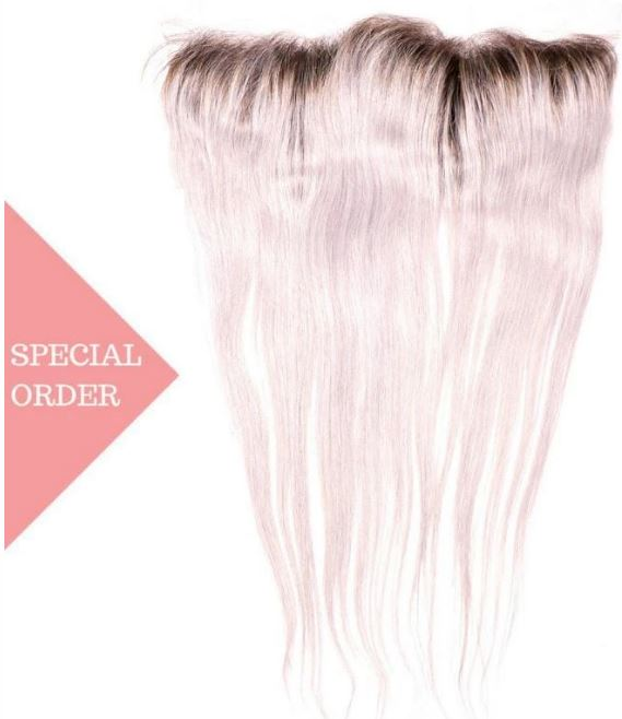 Gray ombre frontal style Straight Dark Root Gray Ombre