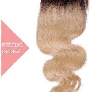 Ombre Body Wave Closure honey blonde number #27