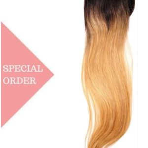 high ombre closure with a blend of light brown and sunkissed blonde with warm gold tones running through