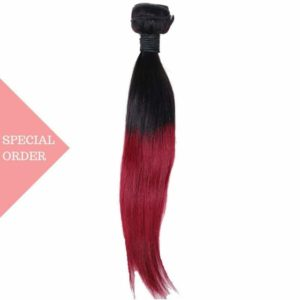 Raspberry Ombre Straight silky color #135 Raspberry Red